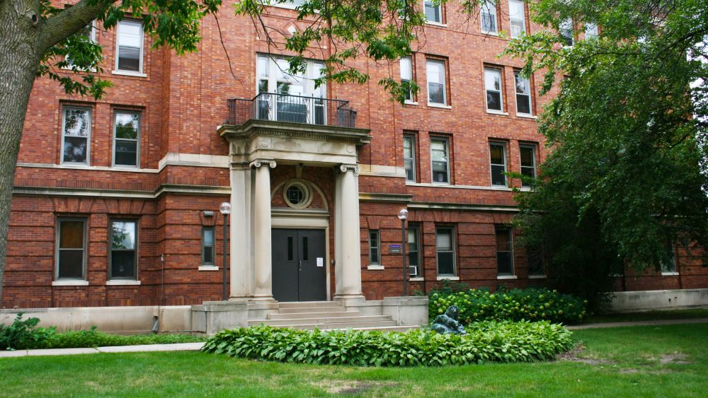 Caecilian Hall was built in 1921 as the music building, but currently serves as an upper-class residence hall.