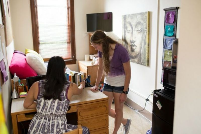 Inside look at dorm room at Caecilian Hall