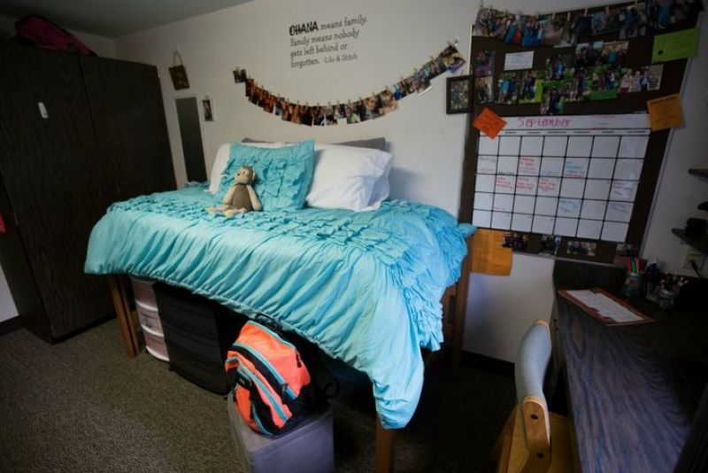 View of Dorm Room at Crandall Hall