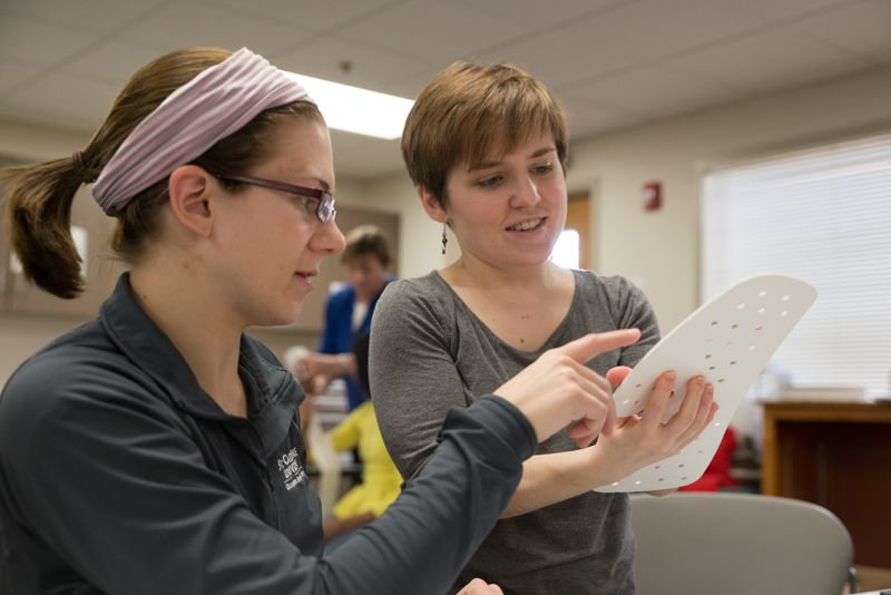 Entry-level occupational therapy students in class