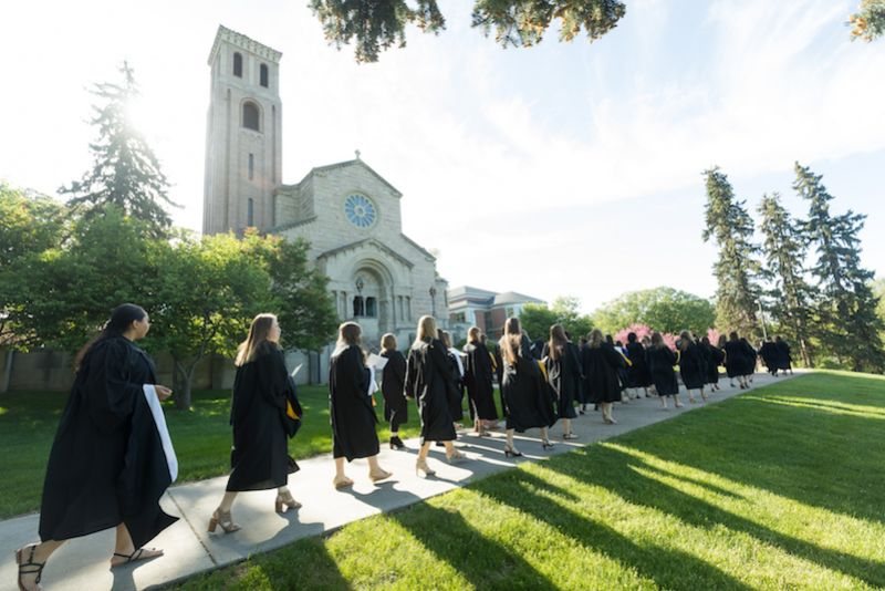 St. Catherine University College for Women 2018 graduates in St. Paul, Minnesota