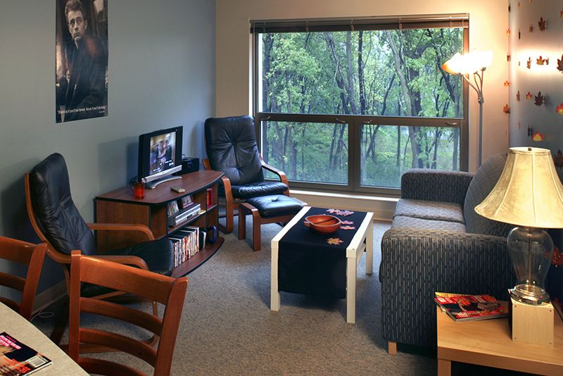 Example of an apartment on campus for grad students