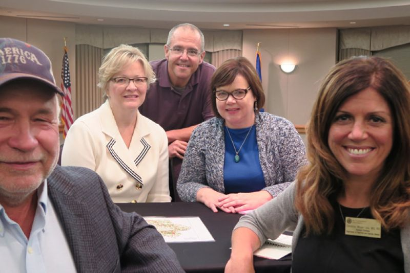 Three St. Kate's professors joined a pig farmer and lawyer to talk about social justice issues related to factory farms. The panelists were Chris Petersen, Sonja Trom Eayrs, Jeff Johnson, Colleen Carpenter and Christina Meyer-Jax.