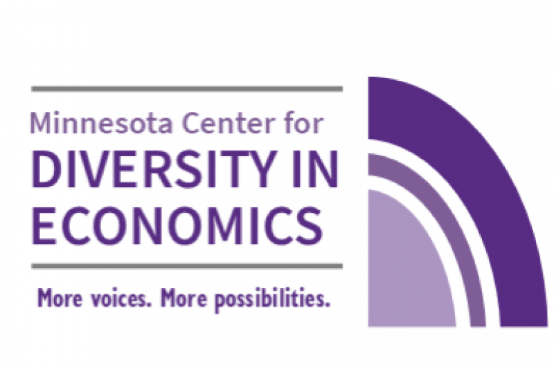 MN Center for Diversity in Economics logo with tagline More voices. More possibilities.