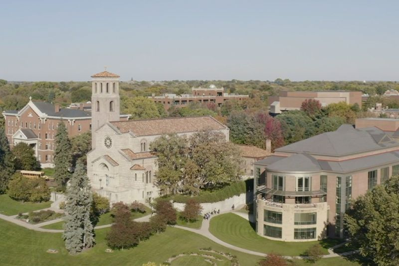 Campus image shot from a drone