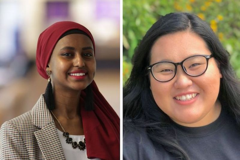 Zaynab Abdi '20 and Jasmin Yangwaue '21 are well known for their leadership.