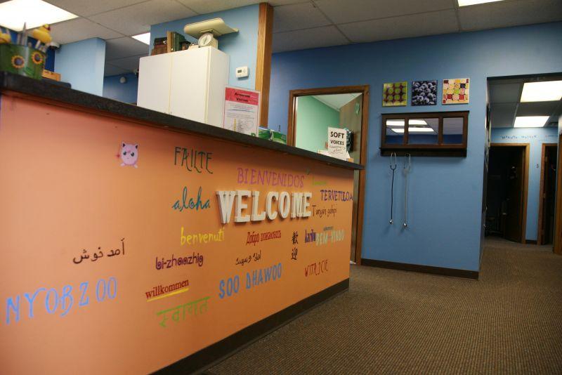 Reception Desk for Dakota Child and Family Clinic in Burnsville, Minn.