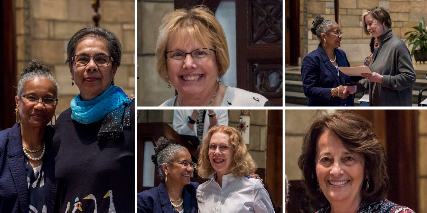 Retiring faculty members were conferred with faculty emeriti status in 2018: Indrani Maitra, Marsha Holey, Jill Jepson, Patricia Olson, and Geri Chavis.