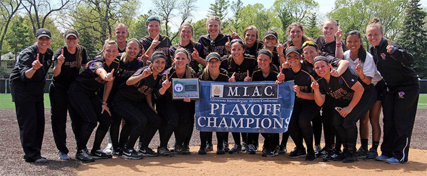 St. Kate's won the first MIAC Softball Playoff Championship in program history - May 2017