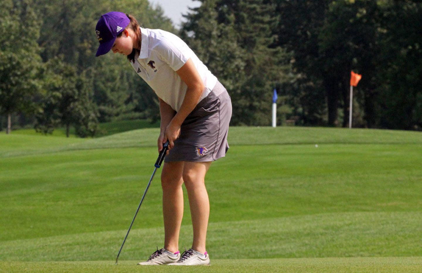 Athlete of the Week (September 11, 2017): Sydney Busker '19 made history on the opening day of the Wartburg Invitational, as she became the first golfer in program history to shoot under par in a single round of a tournament. Photo by Kylie Macziewski '18