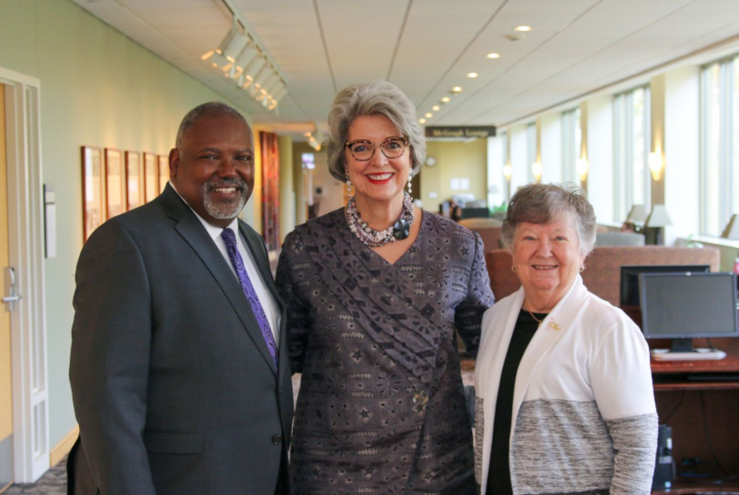 Ken Charles, President Roloff, and Jean Wincek