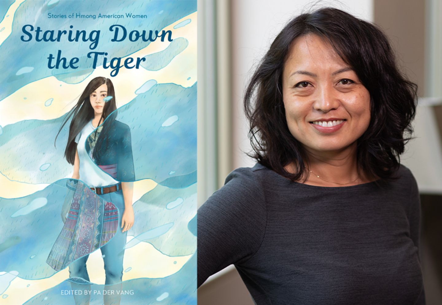 Book cover of Staring Down the Tiger and editor Pa Der Vang
