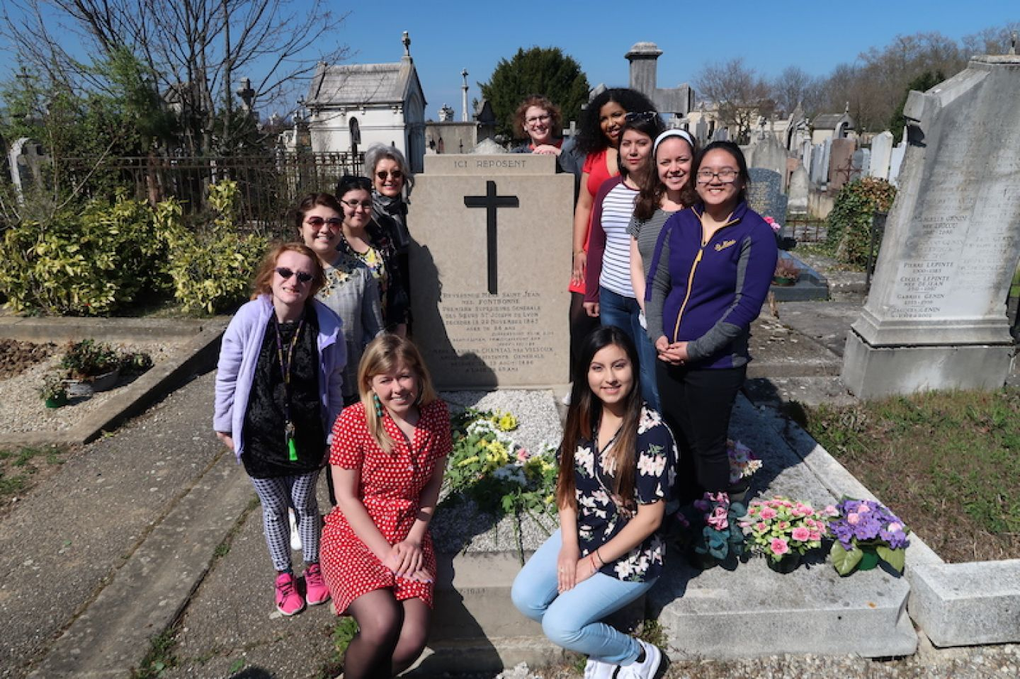 Students, faculty, and staff on a pilgrimmage to Le Puy, France