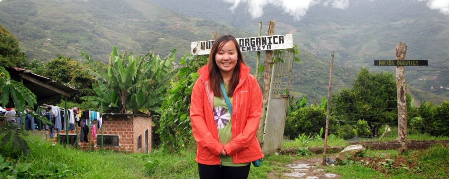 Photo accompanies April 2016 article - Public health graduate gives back to her community. While at St. Kate's, Khaonou Vang '13 studied in Bolivia, where she helped establish an electronic database for Bolivian nursing students. Photo by Mary Hearst.